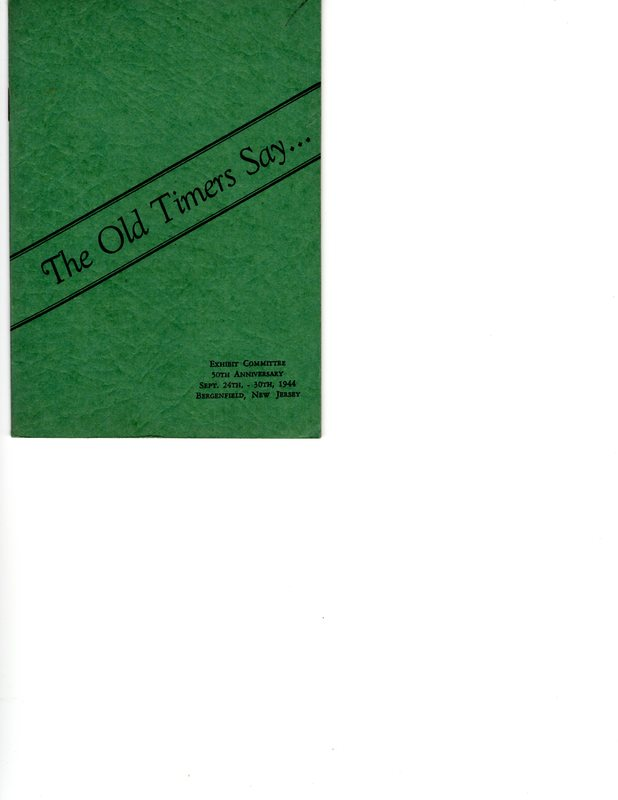 The Old Timers Say Pamphlet of Stories Front Cover.jpg