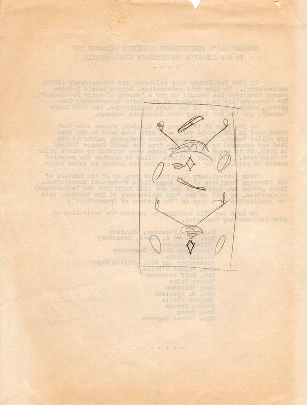 Bergenfield Tercentenary Committee Historymobile Letter Verso.jpg