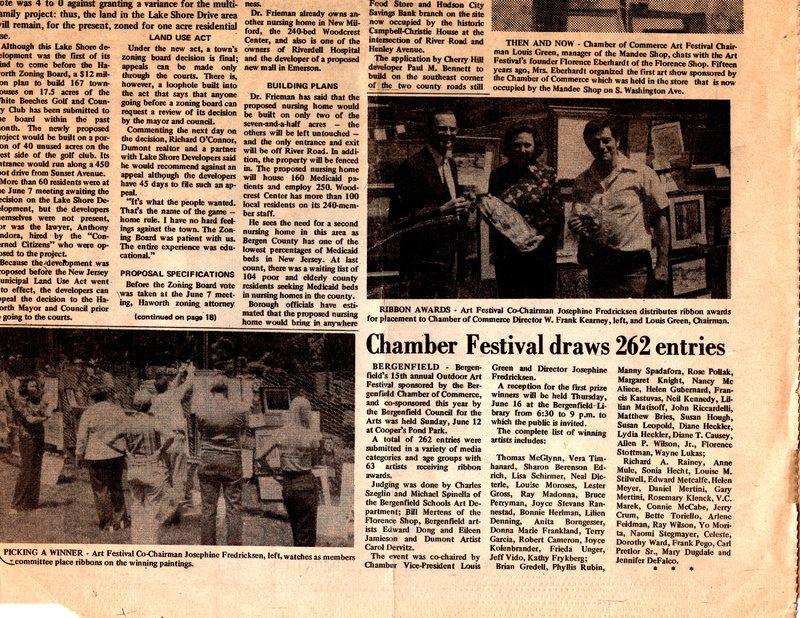 """Chamber Festival Draws 262 Entries,"" (newspaper clipping) Twin Boro News, June 15, 1977.jpg"