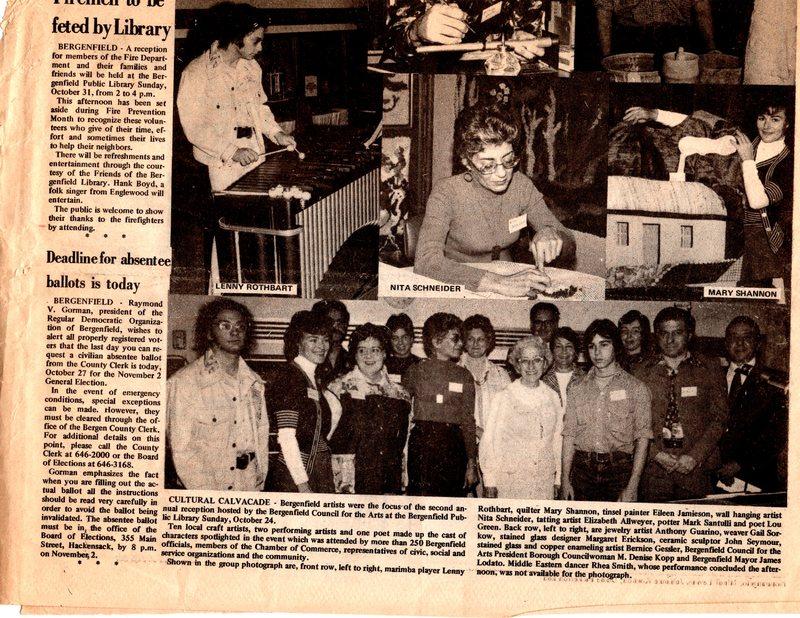 """Cultural Calvacade,"" (newspaper clipping) Twin Boro News, Oct. 27, 1976 P1 bottom.jpg"