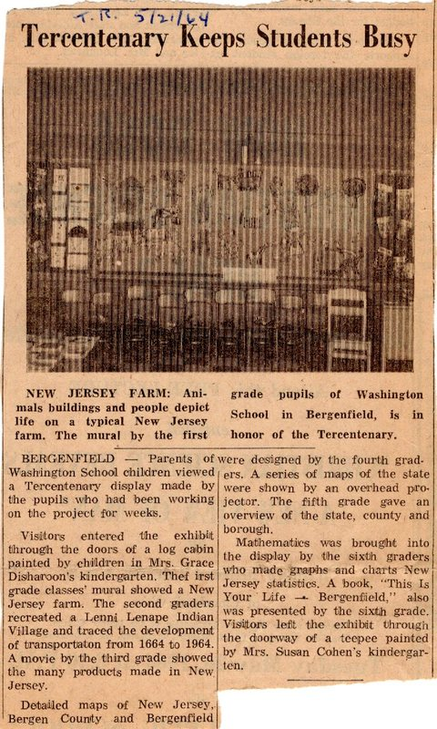 Newspaper Clipping The Record May 21 1964 Tercentenary Keeps Students Busy.jpg