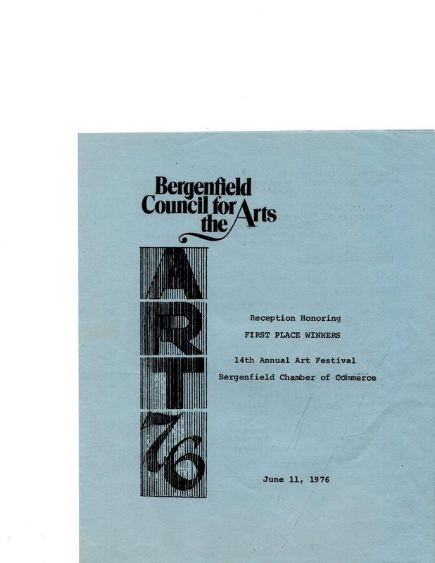 Reception Honoring First Place Winners 14th Annual Art Festival program, June 11, 1976 P1.jpg