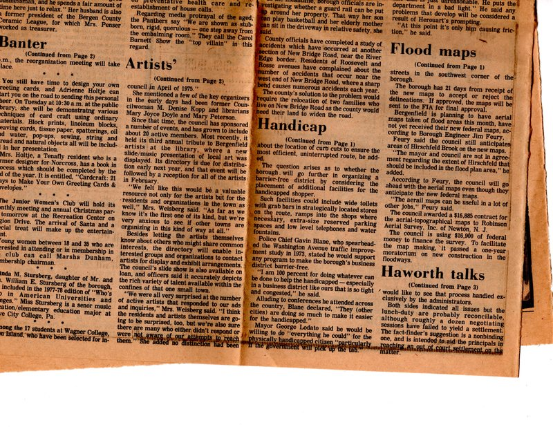 """""""Artists' Directory is Ready,"""" (newspaper clipping) The Sunday Post, Dec. 11, 1977 P2 bottom.jpg"""