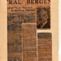 Bergen Evening Record Newspaper Clipping