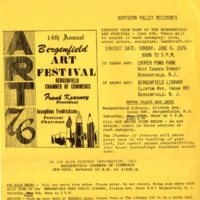14th Annual Bergenfield Art Festival entry form<br /><br />