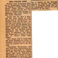 Newspaper Clipping Bergen Record December 4 1959 Borough Chronicle Planned By Group.jpg