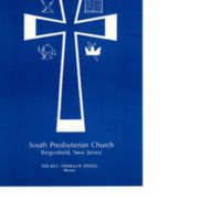 South Presbyterian Church Order of Worship Program December 7, 1980