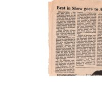 Best in Show Goes to Adele Grodstein newspaper clipping Twin Boro News July 4 1984 P1 top.jpg