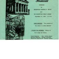 Italian Festival Program September 14 1980
