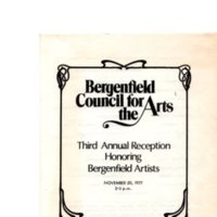 Third Annual Reception Honoring Bergenfield Artists, November 20, 1977
