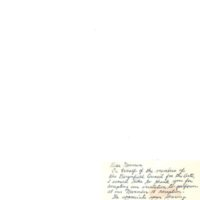 Note from Marion Franz, executive secretary Bergenfield Council for the Arts to<br /><br /> music director Norman H. Gordon, Undated