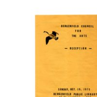 Bergenfield Council for the Arts Reception program, Oct. 19, 1975 P1.jpg