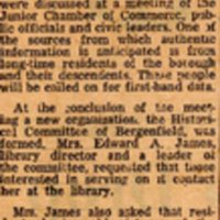 Newspaper Clipping Times Review December 10 1959 Bergenfields History To Be Compiled Soon.jpg