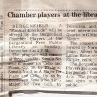 Chamber Players at the Library newspaper clipping Nov 30 1983.jpg