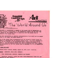 """Bergenfield Council for the Arts Art Contest """"The World Around Us,"""" Aug. 22, 1977 P1 top.jpg"""