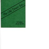 The Old Timers Say…, pamphlet of stories, history and recollections of Bergenfield .