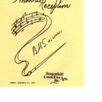 10th Annual Reception BHS Alumni program Nov 25 1984 P1.jpg