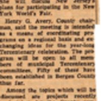 Newspaper Clipping Times Review October 10 1963 Tercentenary Topics Looking to 1964.jpg
