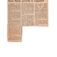 State Bank Growth is Reported newspaper clipping Times Review Feb 2 1967.jpg
