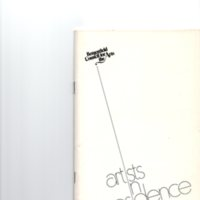 """""""Artists in Residence"""" booklet listing of performing, visual, crafts and literary artists in Bergenfield 1977 P1.jpg"""