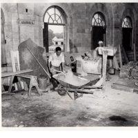 Black and white photograph 8 x 10 Renovation Council Chamber  Borough Hall 1956.jpg