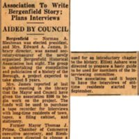 Newspaper Clipping Bergen Evening Record April 8 1960 History Group Gives Top Job To Bleshman.jpg