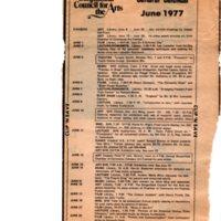 Cultural Calendar, June 1977 (newspaper clipping) undated.jpg