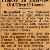 Newspaper Clipping Bergen Evening Record May 19 1960 Group To Buy Tape Recorder.jpg