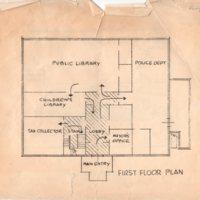 Blueprint of Borough Hall First Floor Plan.jpg