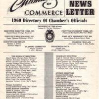 Chamber of Commerce Newsletter May 1960 p1.jpg