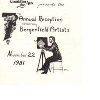 Annual Reception Honoring Bergenfield Artists program Nov 22 1981 p1.jpg