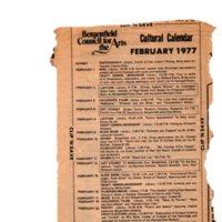 Cultural Calendar, February 1977 (newspaper clipping) undated.jpg