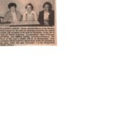 Planning Ahead photo and caption of newly elected officers of Bergenfield Council for the Arts Aug 12 1981 .jpg