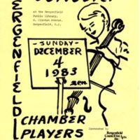 Concert Flier December 4, 1983