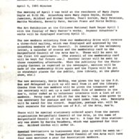 Bergenfield Council for the Arts minutes April 9 1985 P1.jpg